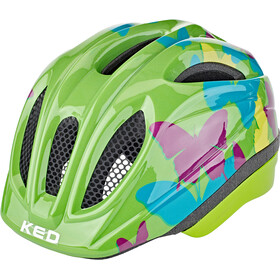 KED Meggy II Trend Helm Kinder butterfly/green